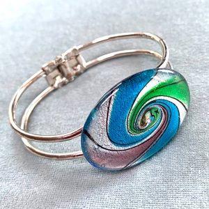 ❤️5 for $15 Art Glass Cuff Bracelet